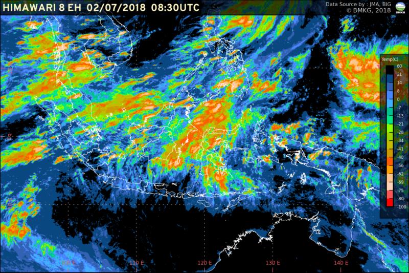 Padang bakal diguyur hujan dari siang hingga dini hari