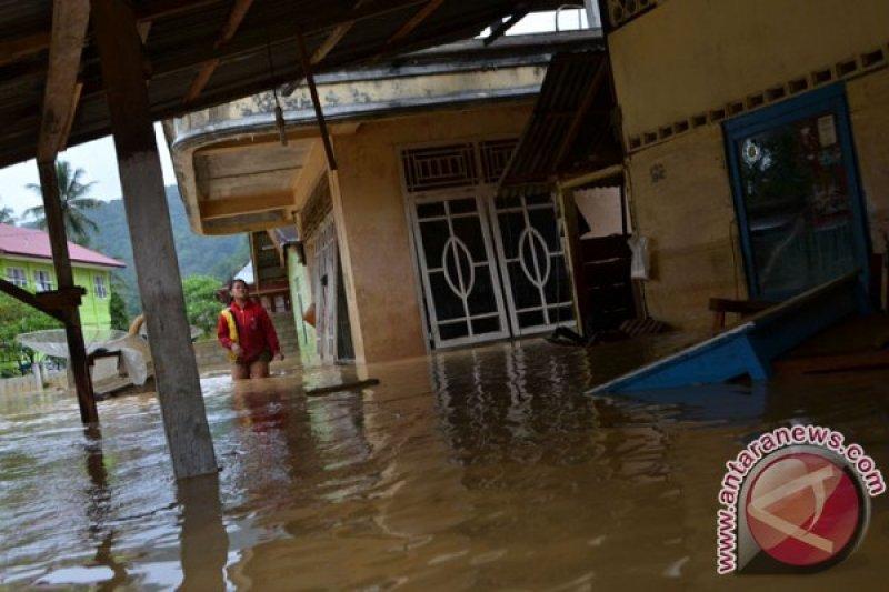 Dinsos Agam bagikan nasi bungkus untuk korban banjir di Kecamatan Ampeknagari