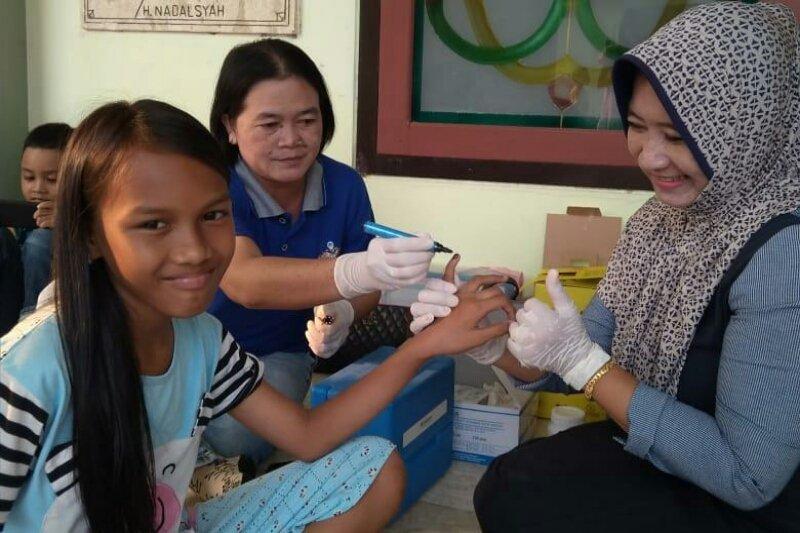 Pemberian vaksin MR di Barito Utara sudah 75,9 persen
