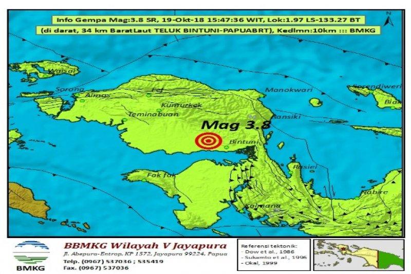 Gempa 5 5 Sr Guncang Kabupaten Mamberamo Tengah Antara News Papua