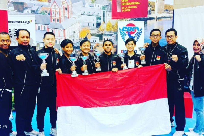 Tim karate pelajar Indonesia bawa pulang 10 emas dari Belgia
