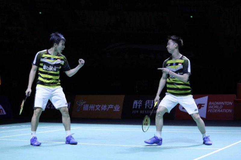 Tundukkan He Jiting/Tan Qiang, Kevin/Marcus juara China Terbuka 2018
