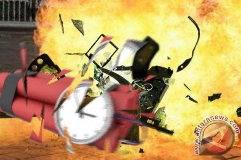 Bom bunuh diri meledak di Pospam 1 Tugu Kartasura, Sukoharjo Jateng