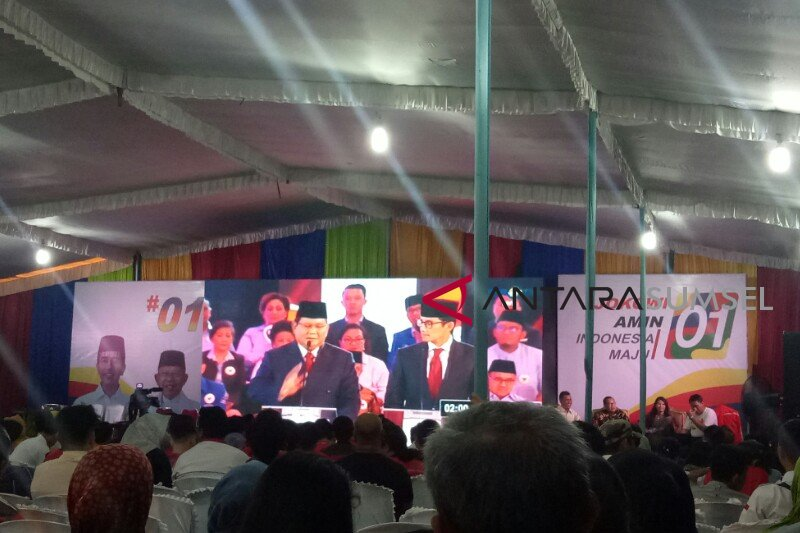 TKD Jokowi - Amin Sumsel gelar nobar debat capres