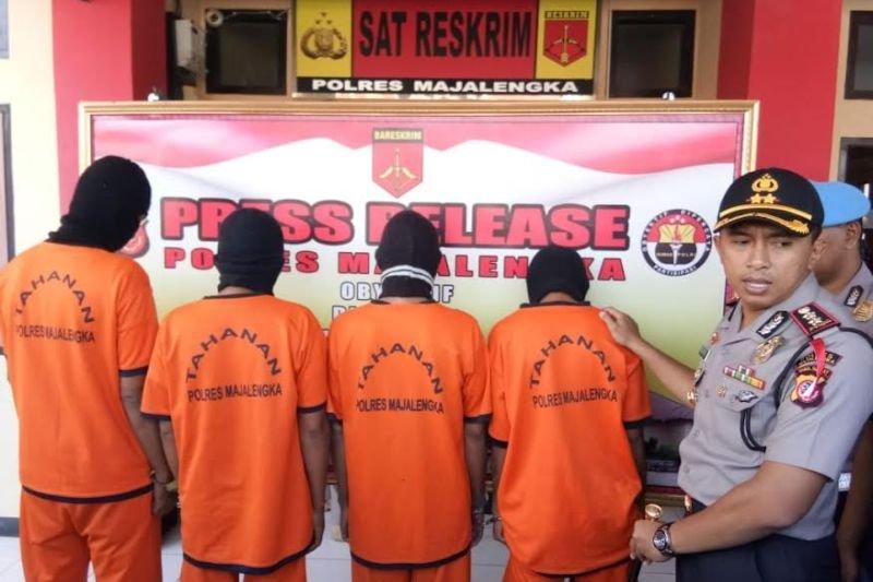 4 pencuri sarang walet dibekuk polisi Majalengka