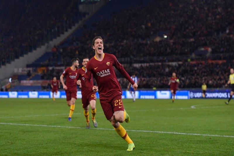 Dua gol Zaniolo bawa kemenangan Roma atas Porto