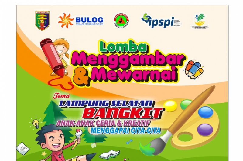 Dinsos Lampung Gelar Lomba Mewarnai Bagi Anak Anak Korban Tsunami Antara News Lampung