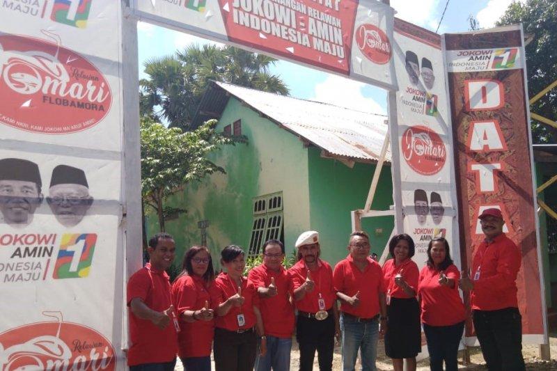 Relawan JoMari 01 NTT gelar nobar debat Capres