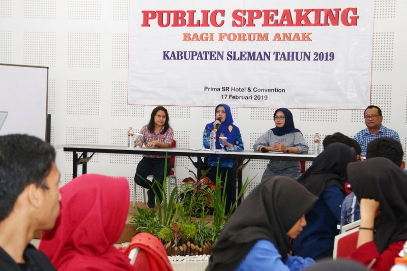 P3AP2KB Sleman adakan pelatihan public speaking forum anak