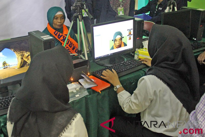 4.650 CJH Riau sudah lakukan rekam biometrik untuk penerbitan visa haji