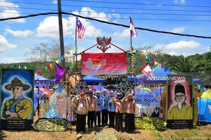 580 peserta Pramuka kemah wisata budaya Danau Rusa