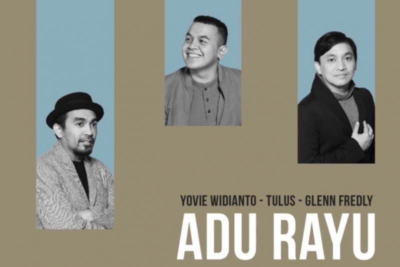 Kolaborasi Tulus, Glenn Fredly & Yovie Widianto lewat lagu 'Adu Rayu'