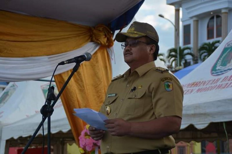 Bupati Morowali Utara meninggal dimakamkan protokol penanganan COVID-19