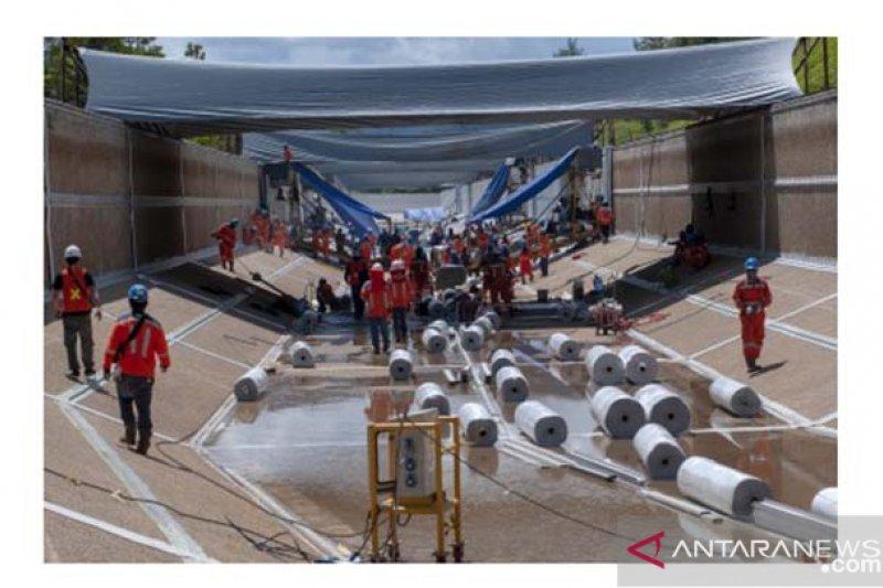 Rehabilitasi kanal bendungan Larona