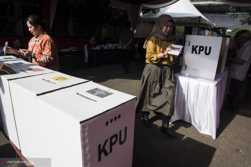 KPU Jabar gelar simulasi pemungutan suara Pemilu 2019