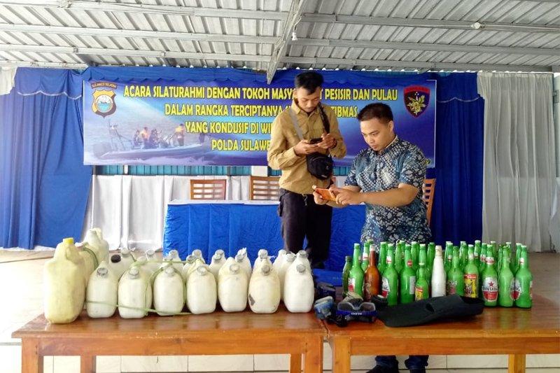 Ditpolair Polda Sulawesi Selatan Amankan Puluhan Jerigen Bom Ikan