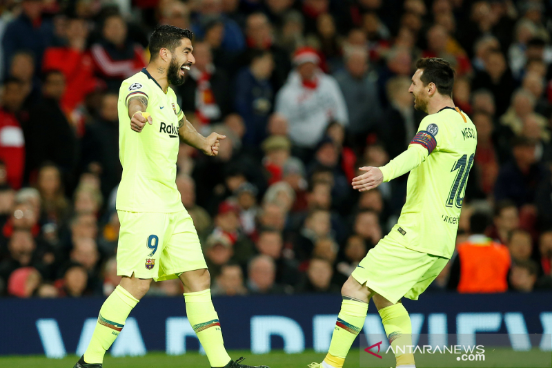 Barcelona kalahkan MU 1-0, Messi gagal cetak gol