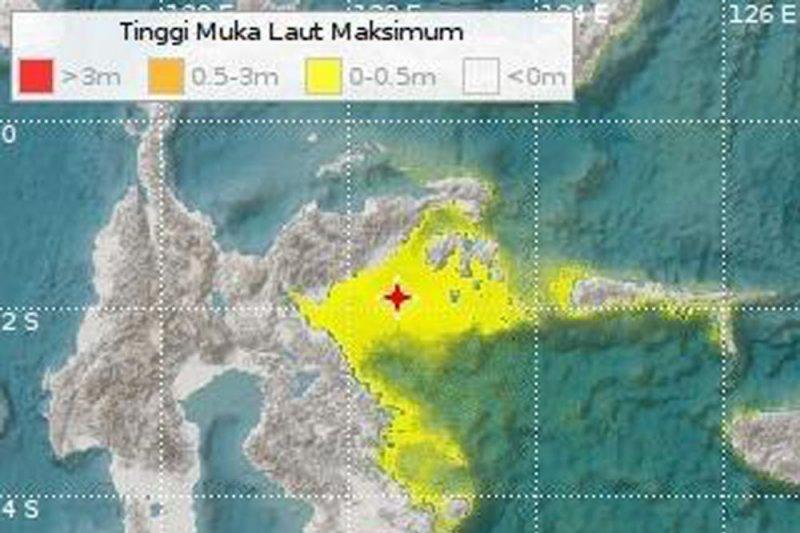 Gempa Banggai 6,9 magnitudo terasa sampai Makassar dan Manado