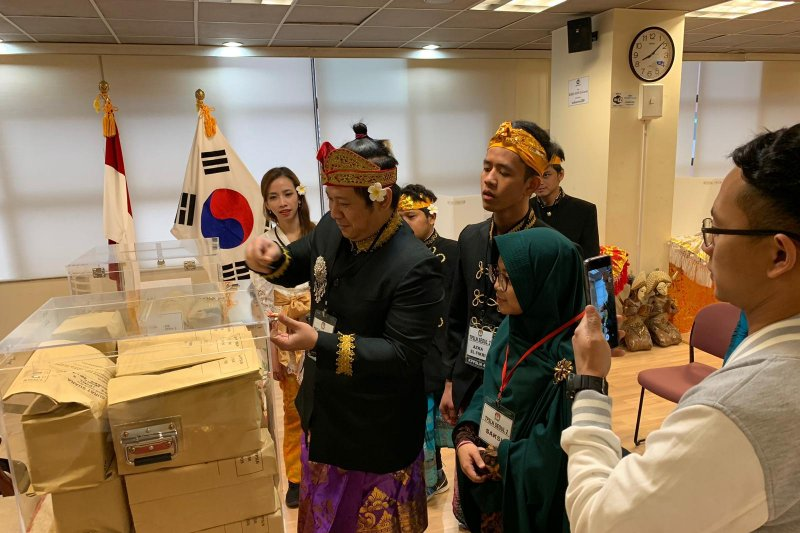 Pemilu Indonesia di Korsel penuh semangat kebhinekaan