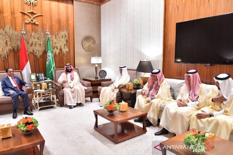 Putra Mahkota Arab Saudi sebut Jokowi pemimpin yang maju