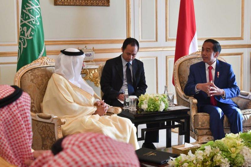 Jokowi dan Menteri Energi Arab bahas kerja sama Aramco-Pertamina