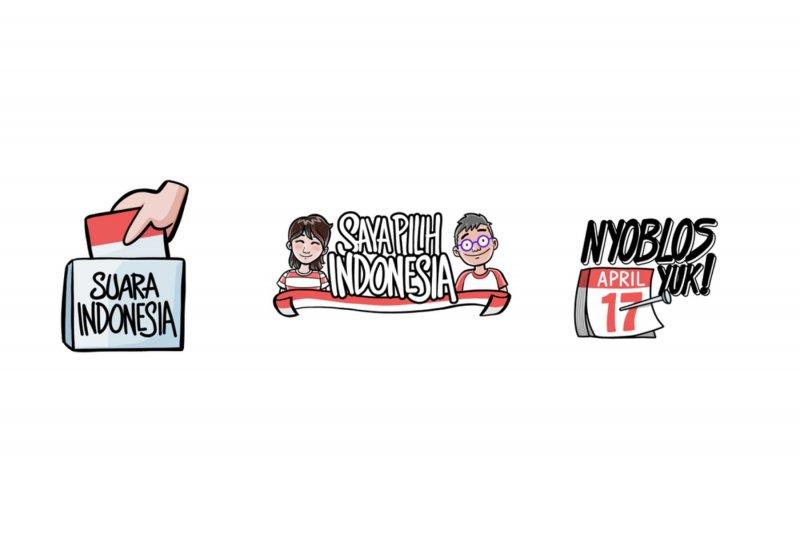 Stiker Pemilu karya Komikazer meluncur di Instagram