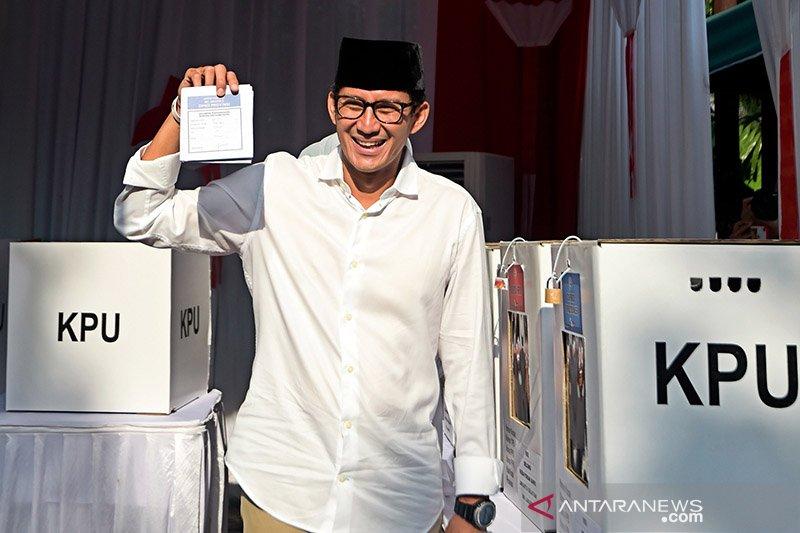 """Prabowo-Sandi klaim menang berdasarkan hasil """"exit poll"""""""