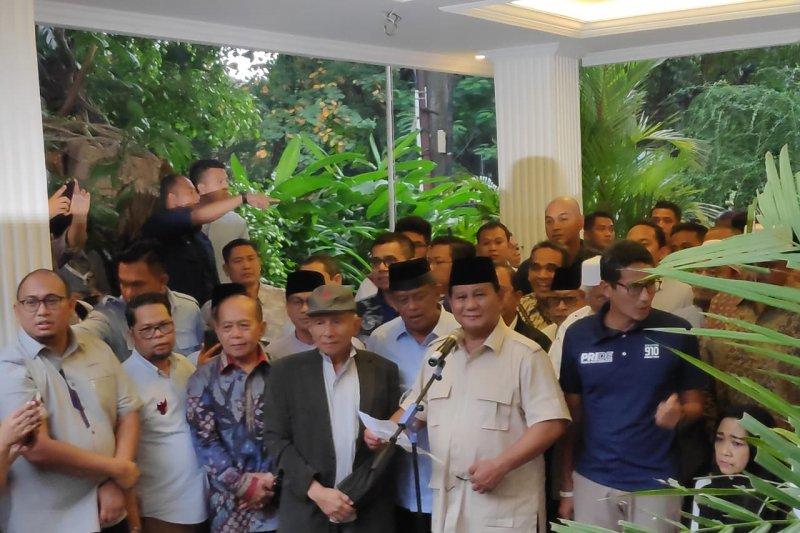 Prabowo ajak pendukungnya tetap menjaga persaudaraan