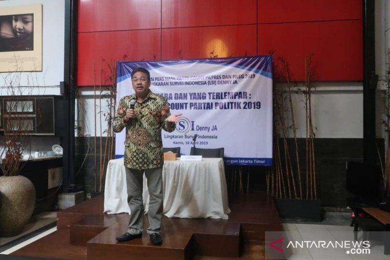 LSI Denny JA: rekapitulasi KPU buktikan lembaga quick count terpercaya