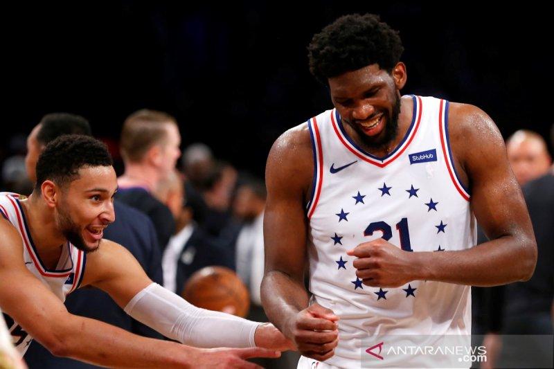 Putaran pertama playoff NBA Sixers perbesar keunggulan 3-1 atas Nets