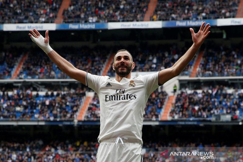 Tiga Gol Benzema, bawa Madrid menang  3-0 atas Bilbao