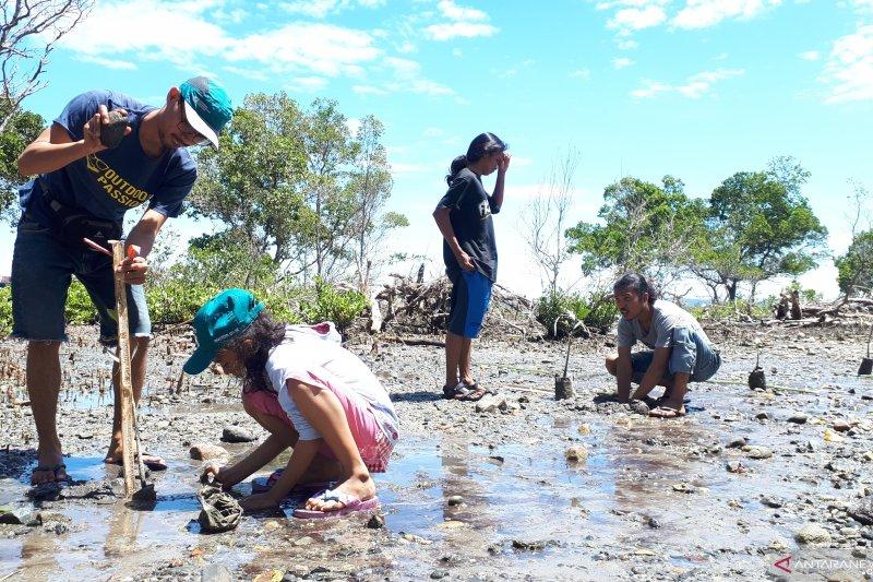 Peringatan Hari Bumi di Palu di tandai tanam 2000 pohon mangrove
