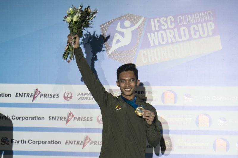 Alfian M Fadjri juarai panjang tebing di China
