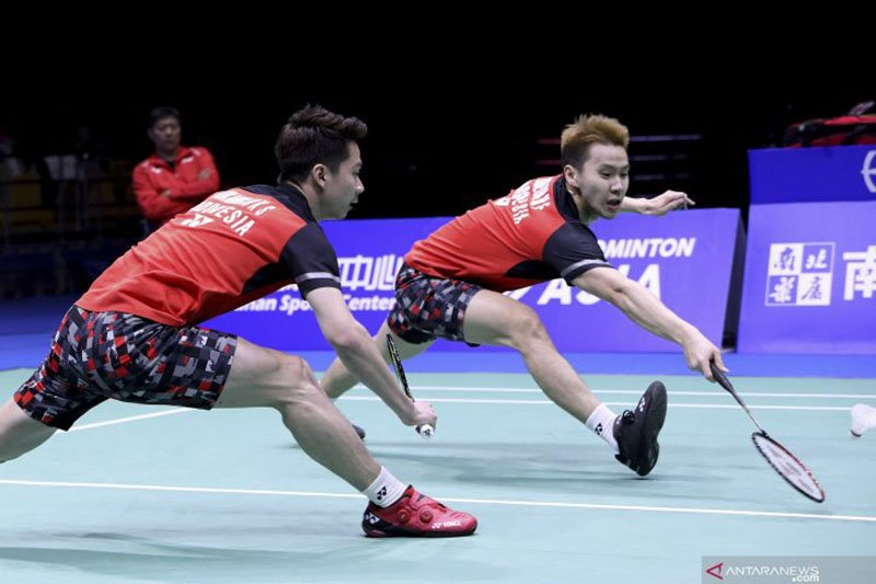 Minions dan The Daddies lolos putaran dua Japan Open 2019