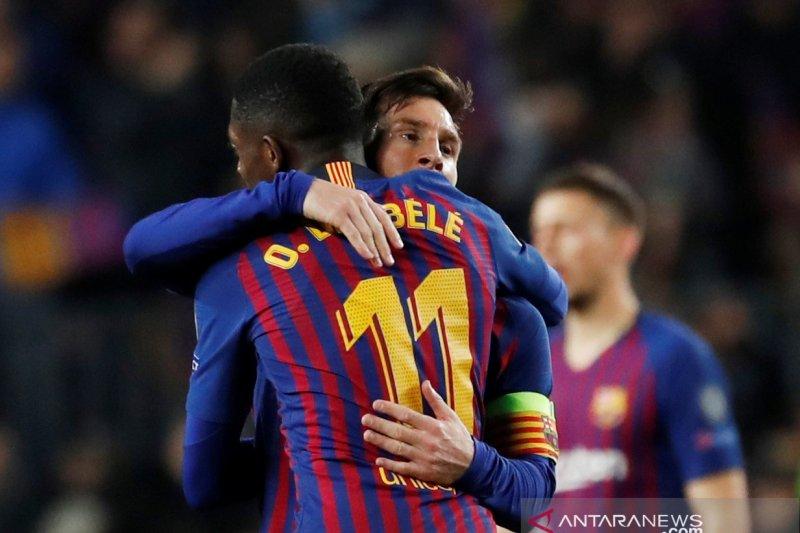 Cedera, Dembele absen bela Barcelona saat hadapi Liverpool