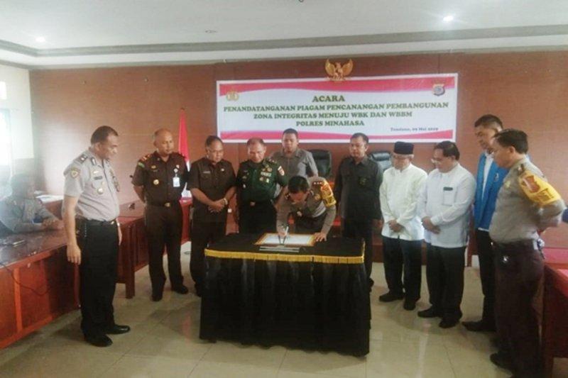 Polres Minahasa canangkan Pembangunan Zona Integritas menuju WBK-WBBM