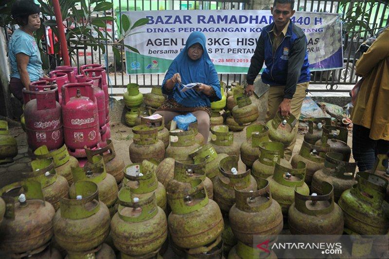 Harga eceran termurah elpiji di bazar Ramadhan kecamatan
