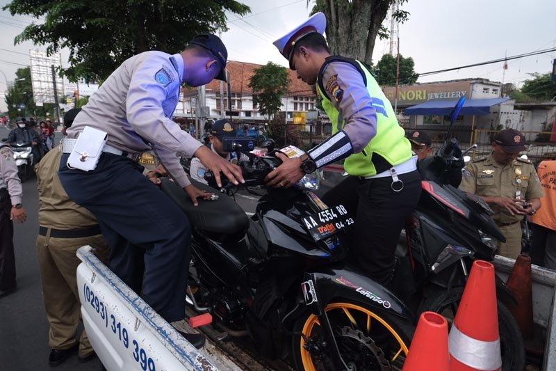 Operasi KTL Kota Magelang digelar sore hari selama Ramadhan