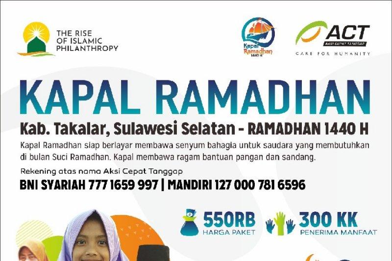 Kapal Ramadhan ACT  sambangi Kabupaten Takalar