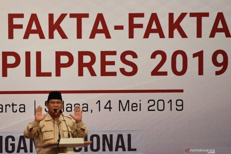 Imbauan Prabowo pada para pendukungnya