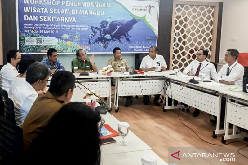 Wisata selam dan bawah laut Sulut akan dikembangkan lebih intensif