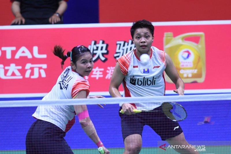 Langkah Greysia/Apriyani terjegal Chen/Jia di semifinal Australia Open 2019