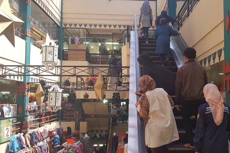 Pengunjung Pasar Beringharjo mulai mengalami kenaikan
