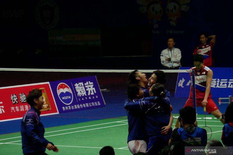 China raih Piala Sudirman 2019 setelah hajar Jepang 3-0