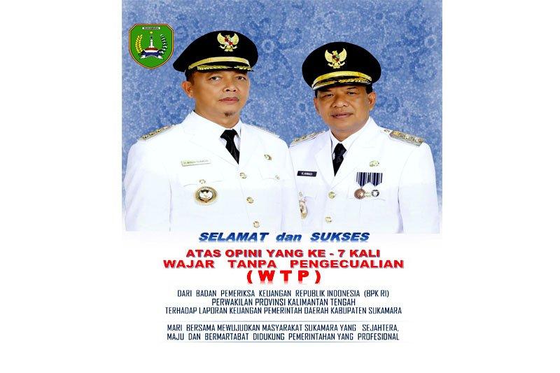 Pemkab Sukamara berhasil raih opini WTP ke-7