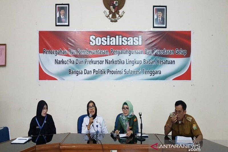 BNNP Sultra Sosialisasikan Inpres No 6 Tahun 2018 Tentang RAN P4GN