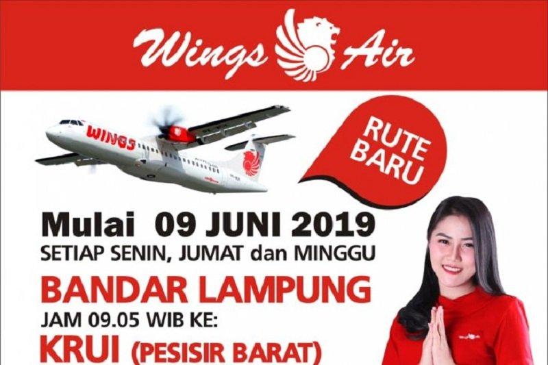 Mulai 9 Juni 2019 Wings Air Layani Penerbangan Bandarlampung Krui Antara News