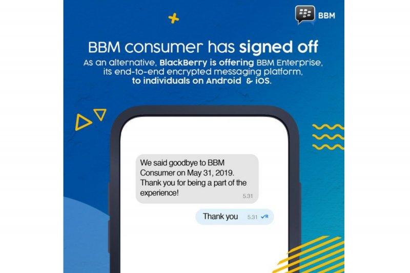 BlackBerry Messenger akhiri layanan hari ini