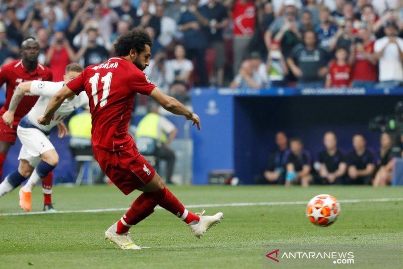 Tendangan penalti M Salah angkat Liverpool ungguli Tottenham 1-0 pada babak I
