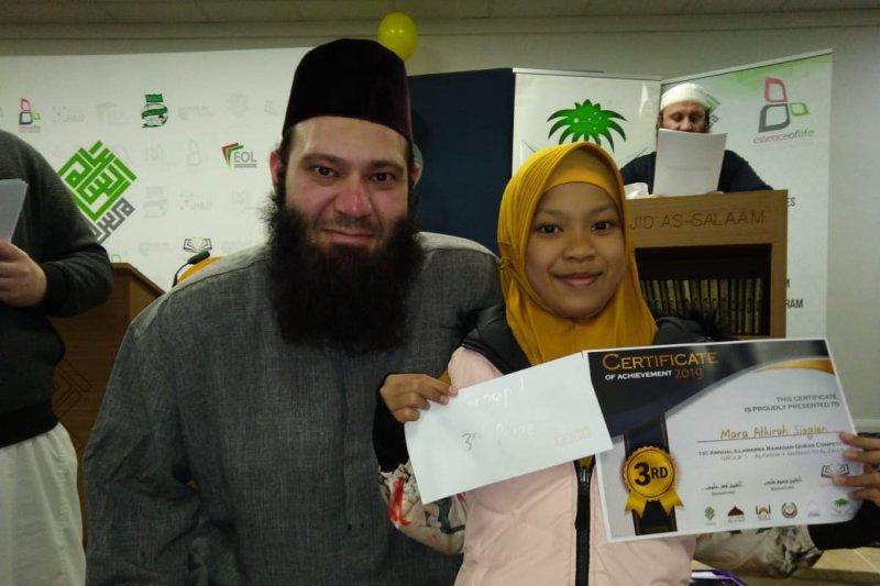 Atihirah Siagian juara III kompetisi Quran di Australia